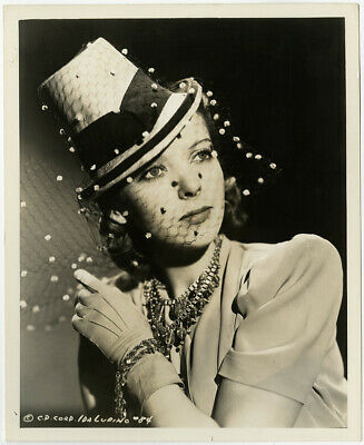 IDA LUPINO STRAW Hat w/ Net Veil 1939 Vintage The Lady and the Mob  Photograph - $35.07 | PicClick