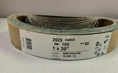 100 Grit Sanding Belt (NEW) Qty of 50