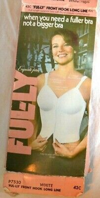 Vintage NIB NWT old STock Exquisite Form Ful-ly Front Long Bra - 42C