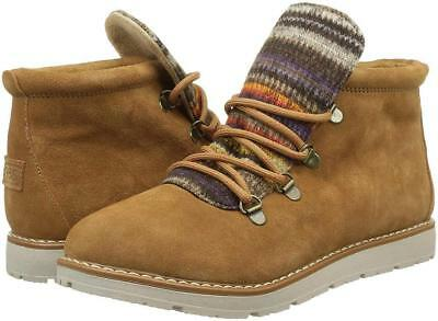 e4cb277a8644 Skechers BOBS Women s Alpine-S Mores Ankle HIKING BOOTS BOOTIES SIZE 8   CHESTNUT