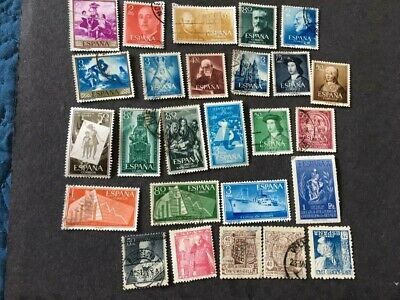 Lot of 26 Spain Stamps, all better, removed from stamp album, current value ?