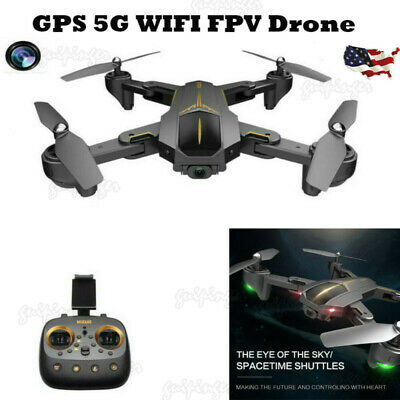Foldable RC Drone 5G WIFI FPV GPS Positioning W/ 720P HD Camera RC Quadcopter US
