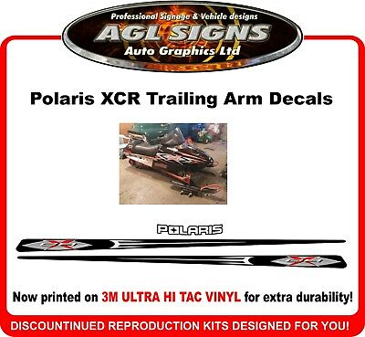 2002 Polaris Indy XCR  Reproduction Trailing Arm Decal Kit