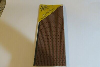 Vintage Dollhouse JR Enterprises 3D Reproductions Red Brick, BR110R  -  NOS