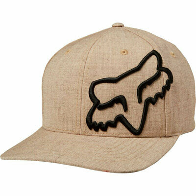 Fox Racing Men's Clouded Flexfit Hat Sand Brown Headwear Apparel Sports Baseball