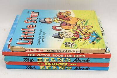 A Collection Of 5 Kids Annuals Beano Dandy And Little Star 70's & 80's - A20