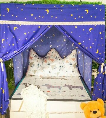 Single Cartoon Floor Type Dust Prevention Bed Canopy Mosquito Net Bed Curtain .