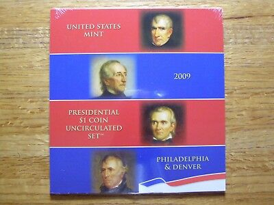 2009 (P&D) PRESIDENTIAL $1 COIN UNCIRCULATED SET (XE3) Sealed
