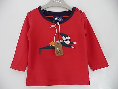 Joules New Baby Boy Long Sleeve Top 3-6 months £17.95 Baby Jack Elf Red Top