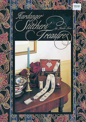 HARDANGER STITCHERS TREASURES Embroidery Book Janice Love Chatelaine Needlecase
