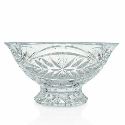 """Waterford Crystal Tracy 10"""" Fan, Flat & Wedge Cut Footed Bowl"""