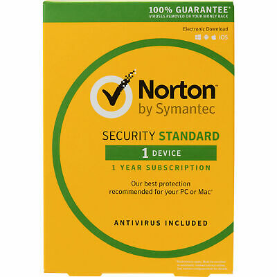Norton INTERNET SECURITY 1 PC Devices Windows Mac Android iOS - FREE POST