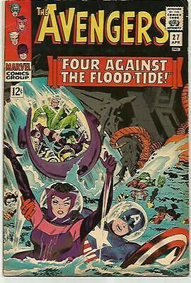 AVENGERS #27    Beautiful Early Silver Age  Solid VF7.6-7.7; Near VF8.0