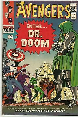 AVENGERS #25    DR DOOM Cover!  Silver Age  Solid FN/VF7.0