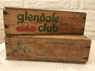 3 Vintage Wooden Windsor Club Cheese Boxes 1 Double Size Wood High Quality And Inexpensive Woodenware
