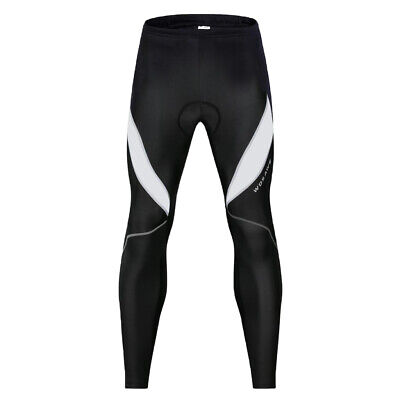 Black Long Cycling Pants Thermal Padded Riding Legging Sportswear