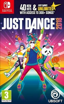 Just Dance 2018 Nintendo Switch * NEW SEALED PAL *