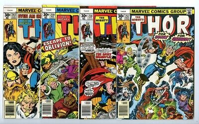 Thor #257,258,259,262 Avg F/VF New Marvel Bronze Copper Collection