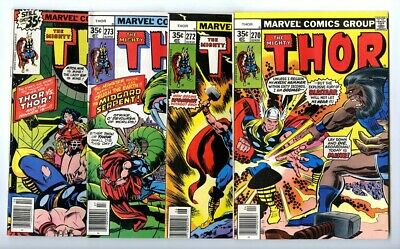 Thor #270,272,273,276 Avg F/VF New Marvel Bronze Copper Collection