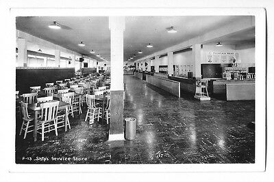 1944 Real Photo Postcard ~ Ship's Service Store ~ Farragut Naval Station, Idaho