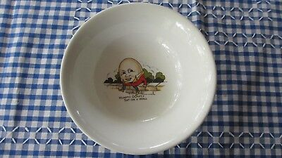 Vintage Babies  Childs Humpty Dumpty dinner  Bowl