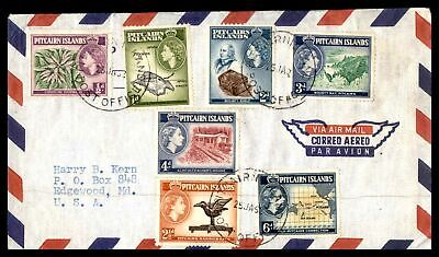 Pitcairn Islands January 26 1962 Air Mail To Edgewood Md Usa Insert