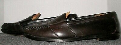 88a7a9de9ac Vintage Cole Haan Brown Shell Cordovan Penny Loafers Size 13 C! Usa Crafted!