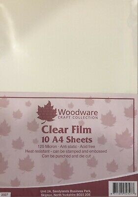Woodware Clear Acetate A4 Sheets 10pk