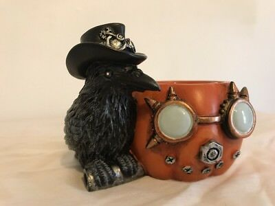 f47e951cac Halloween Yankee Candle 'steampunk Raven' Candle Holder - New In Box ...