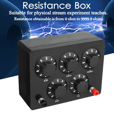 Variable Decade Resistor Resistance Box 0-9999.9 Ohm Electrical Learning Tool