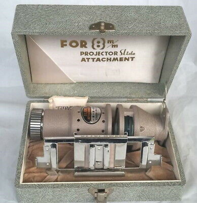 CINEKON KOKI K K SLIDE ATTATCHMENT FOR 8mm PROJECTOR BOXED IN EXC COND