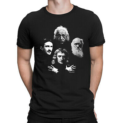 DARWIN EINSTEIN SCIENTIST Mens Bohemian Rhapsody TShirt Newton Tesla Science Top
