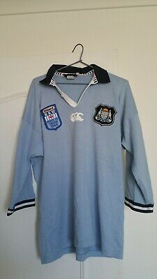 NSW Blues State Of Origin Jersey -  Wizard Sponsor - Canterbury  Size M