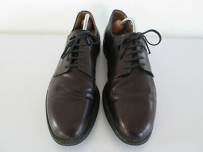 Men's Shoes Church Uk Size 10 F 100F Dark Burgundy Red Smooth Leather Lace Ups