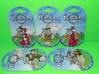 Hanna Barbera The Flintstones  DUFORT Key rings 1994 NEVER REMOVED FROM CARD