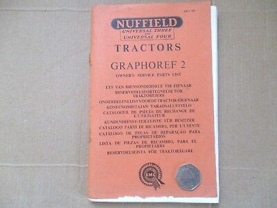 Farming---Bmc / Nuffield 3 & 4 Tractors ---Owners Service Parts List