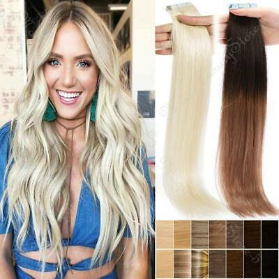 100% Remy Tape In Human Hair Extensions Skin Weft 20PC 40PCS 60PCS Fast Shipping