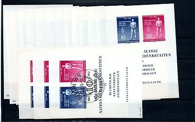 GERMANY , GDR , 1955 , WHOLESALE of 17 better S/S , MNH ( 14 ) , USED ( 3 )