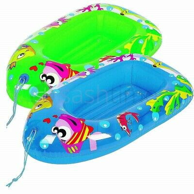 Child Kids Inflatable Pool Dingy Boat Toy Blow Up Float Sea Beach Lounger Swim