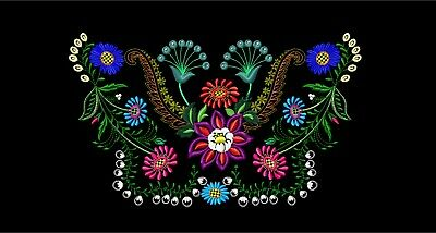 MACHINE EMBROIDERY DESIGNS - FLOWERS EMBROIDERY - DRESS Embroidery - Handbag