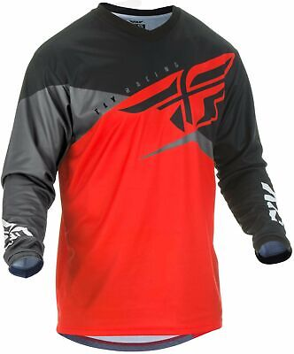 Fly 2019 F-16 MX Motocross Off Road Youth Jersey - Red Black Grey