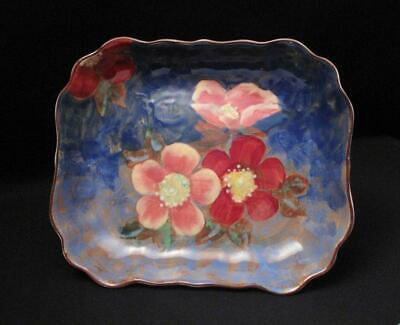 Vintage Royal Doulton England Handpainted Wild Rose Roses G Bowl Dish Tray D6227