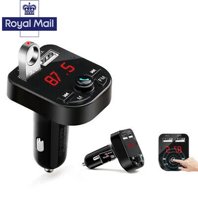 Bluetooth  Car Kit Wireless FM Transmitter Dual USB Charger New Audio MP3 Player