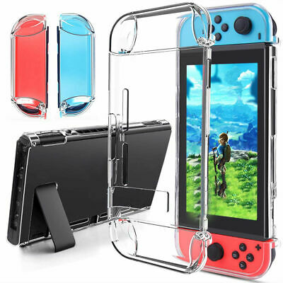 For Nintendo Switch Transparent Clear Shockproof Protective Hard Back Case Cover