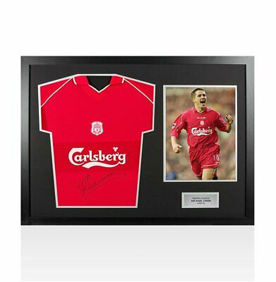 e4706a9fd Framed Michael Owen Signed Liverpool Shirt 2000 01 Front Signed - Panoramic