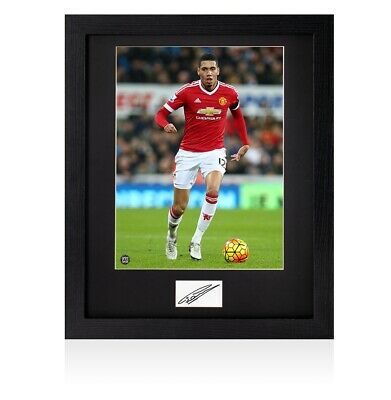 Framed Chris Smalling Signed Card - Manchester United Autograph
