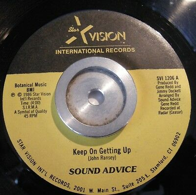 Sound Advice / Keep On Getting Up /  Modern Soul  Very  Rare!