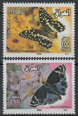 Irak Iraq 2002 ** Mi.1737/38 Schmetterling Butterfly Fauna Tieren Animals
