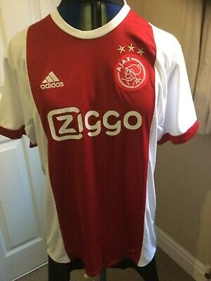 d63313f42 ADIDAS AJAX AMSTERDAM Home Jersey 2017 2018 Juniors White Red ...