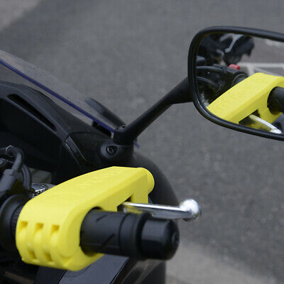 New Oxford Handlebar Lever Lock Yellow Lk301 28-38Mm Grips Motorcycle Scooter